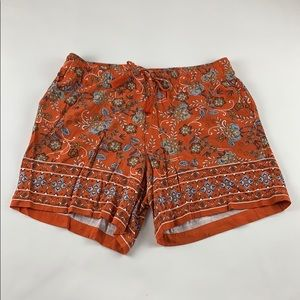 PETITE JJill Country Print Relaxed Shorts PM